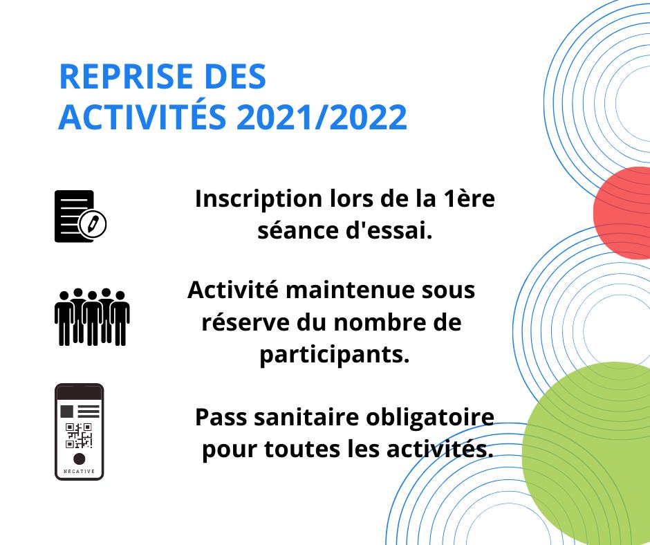 Reprise des activités VAL 2021 2023